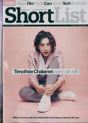 Shortlist Magazine FEB 2018: Call Me By Your Name TIMOTHEE CHALAMET COVER STORY