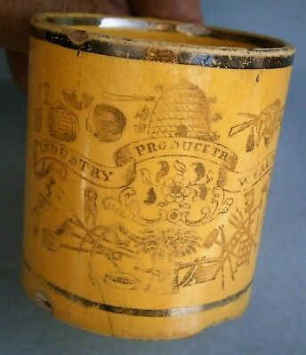 "19th Century ""INDUSTRY PRODUCETH WEALTH"" Childs Porcelain Cup"