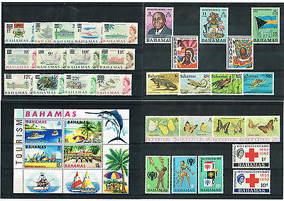 Bahamas - Selection Of Mint Never Hinged Stamps/sets/min Sheets (2 Scans)