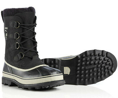New Sorel Caribou Boot Mens Black Winter Snow Lined Waterproof Insulated Warm