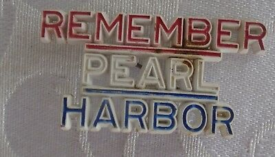 1940's WWII REMEMBER PEARL HARBOR pin brooch