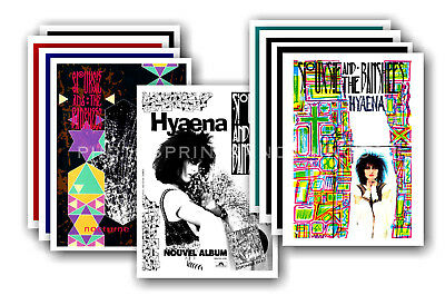 SIOUXSIE & THE BANSHEES - 10 promotional posters  collectable postcard set # 3