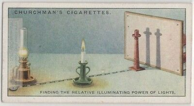 Illuminating Power of Different Light Sources Experiment 1920s Trade Ad Card