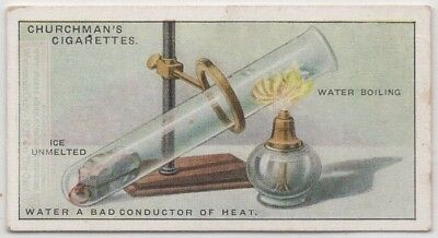 Demonstrate Water Poor Heat Conductor Science  Experiment 1920s Trade Ad Card