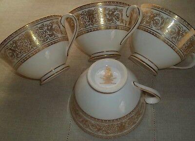 Royal Doulton SOVEREIGN Footed Coffee Cups Set of Four