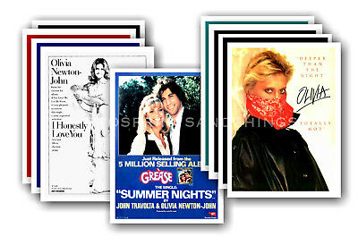 OLIVIA NEWTON JOHN  - 10 promotional posters  collectable postcard set # 3