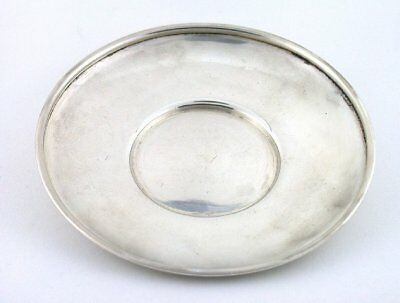 3 1/5 x 3/5 Inch Vintage Antique Pure Sterling Silver Small Plate Dish AS93