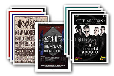 THE MISSION  - 10 promotional posters - collectable postcard set # 1