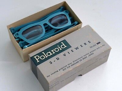 Box of POLAROID 3-D Glasses (6) Nice 1950s 3D Collectible - WM