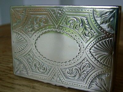 Good Quality Early Victorian Engraved Antique Silver Plate Snuff Box No Reserve