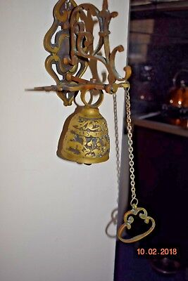ANTIQUE BRONZE DOOR  BELL c1800  RARE
