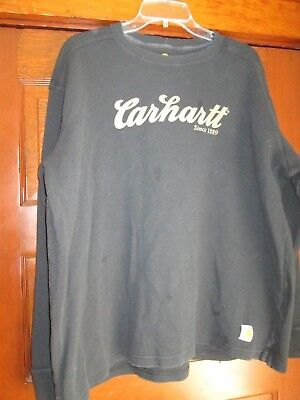 Mens  Shirt Thermal By Carhartt Size Xl Not Xxl Black Very Nice