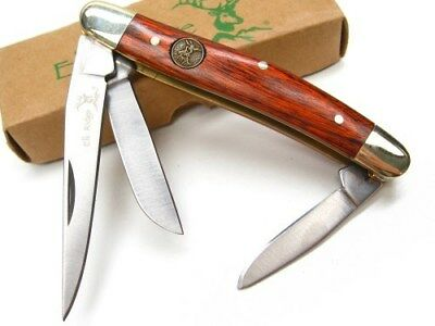 ELK RIDGE Pakkawood GENTLEMAN'S 3 Blade Folding STOCKMAN Pocket Knife! ER-323W