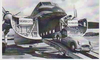 carte postale - AVION SILVER CITY - TRIUMPH TR3