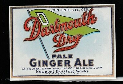 Label Dartmouth Dry Pale Ginger Ale