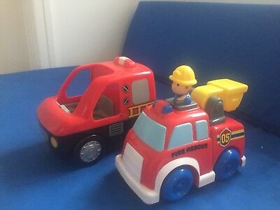 Two Fire Engines Children's Toy