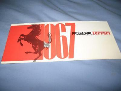 ORIGINAL Ferrari 1967 Production brochure 11/66. 275GTB/4, 365 California, etc.