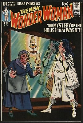 Wonder Woman #195 Very Glossy Vf 8.0 Cents Copy With White Pages From 1971