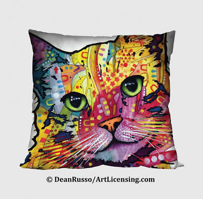 New Dean Russo Cat Kitty 12 Inch Decorative Throw Pillow SPOONTIQUES  Gift