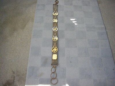 """Vintage/Antique Horse Harness 50"""" With Brass Medallions"""