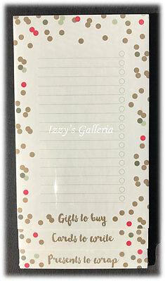 Paperchase Christmas Holidays Shipping Lined List Pad Gifts To Buy Cards Present