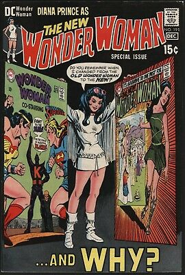 Wonder Woman #191 Her New Origin Explained Glossy Cents Copy With White Pages