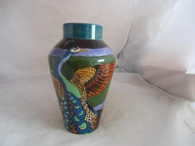 Late 19Th Century Wardle Art Pottery 'peacock' Vase