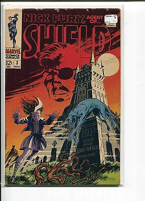 Nick Fury  Agent Of Shield 3 Fn+  Steranko C/a    1968