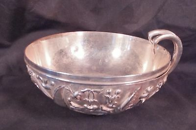 Antique Christofle Silverplate Art Nouveau Rococo Handled Bowl 6""