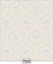 Miniature Dollhouse Wallpaper 1:12 Scale - Ethereal Damask Beige - 7025