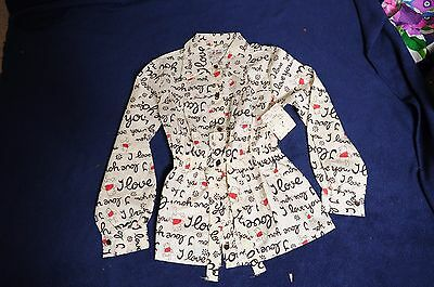 VTG '70s NOS Girls Sears Winnie The Pooh button front tie waist shirt blouse 10