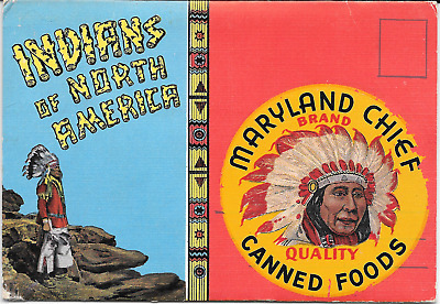 Old Maryland Chief Brand Quality Canned Foods Indians of North America Fold-out
