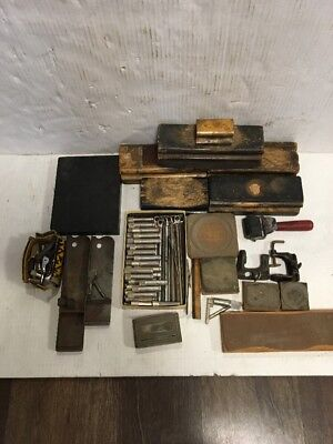 H.B. Rouse Chicago USA printer's composing stick Printers Block Parts Lot