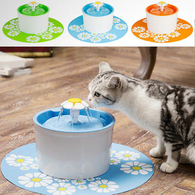 1.6L Flower Style Dog Cat Water Drinking Pet Fountain Bowl Drink Dish Filter
