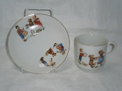 Antique Collectable Childrens Cup & Saucer - Doll &  Bear Accessory