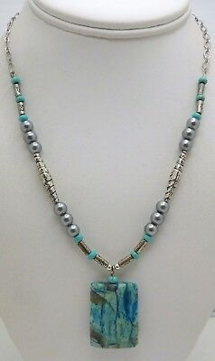 BEAUTIFUL Sterling Silver / Turquoise Ladies Necklace