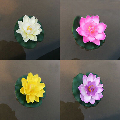 Artificial Fake Lotus Water lily Floating Flowers Garden Pool Ornament Home Hot