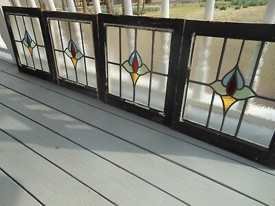 MA13-508 Lovely Older Leaded Stained Glass Window From England 4 Available