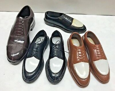 Vintage LOT MCM Men's Shoes Salesman sample figurine Doll sz miniature NUNN BUSH