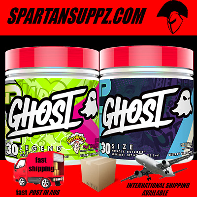 Ghost LEGEND & Ghost SIZE Stack Pre Workout Creatine Fitness Weight Loss
