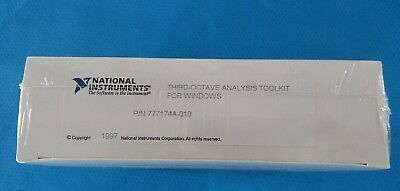 National Instruments Third-Octave Analysis Toolkit for Windows Year 1997