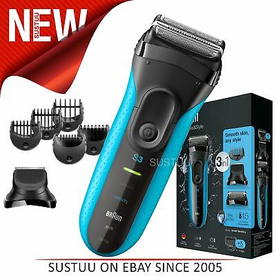 Braun 3010BT Series 3 Shave & Style Mens Shaver│Wet & Dry│Electric Razor Trimmer