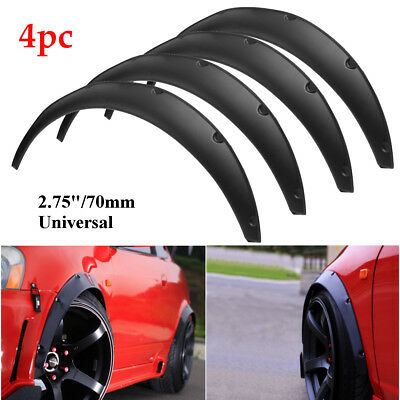 4X 2.75''/70mm Universal Flexible Car Body Wheel Fender Flares Extra Wide Arches