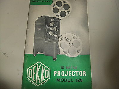 Instructions cine projector AMPRO 16mm sound projector new educational CD//Email