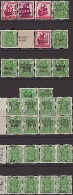 India Modern 1971 Refugee Relief SG646-651 Selection 30 Mostly Errors