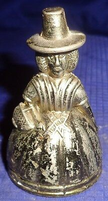 RP1884 Vtg Solid Cast Welsh Lady Mini Dinner Bell