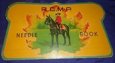 RP2285 Vtg RCMP R.C.M.P. Royal Canadian Mounted Police Souvenir Needle Book