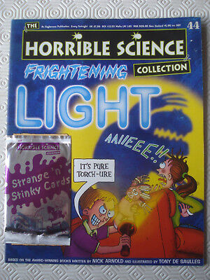 Horrible Science Collection Magazine No. 44 Frightening Light + card pack