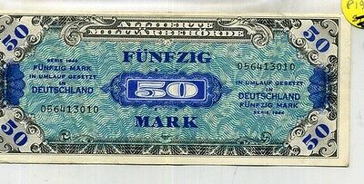 1944 Germany 50 Mark Currency Note Xf 4115B