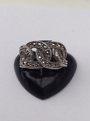 Silver Old Marcasite Ring Pretty